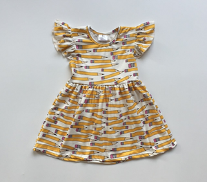 PENCIL MILK SILK DRESS