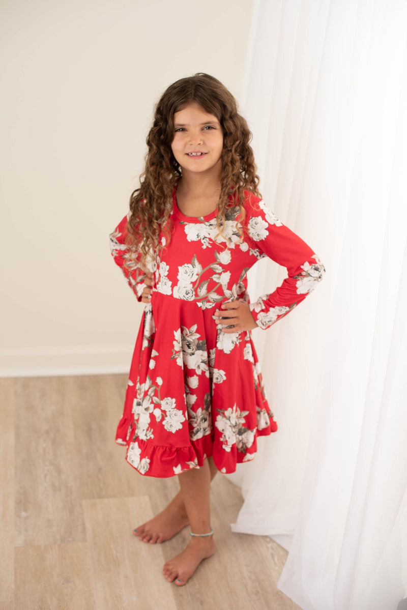 NORA FLORAL TWIRL DRESS