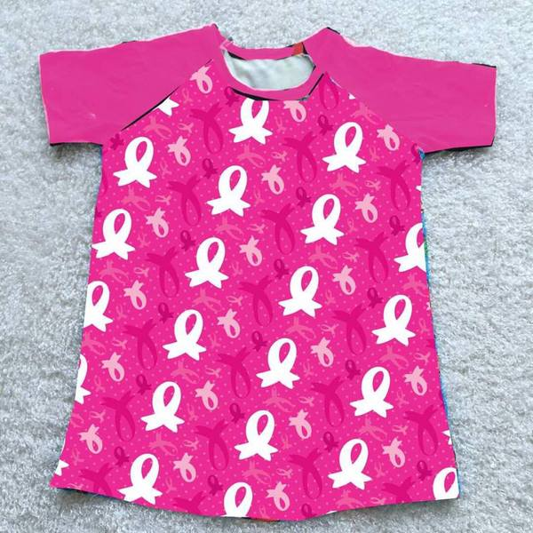 LADIES PINK RIBBON RAGLAN