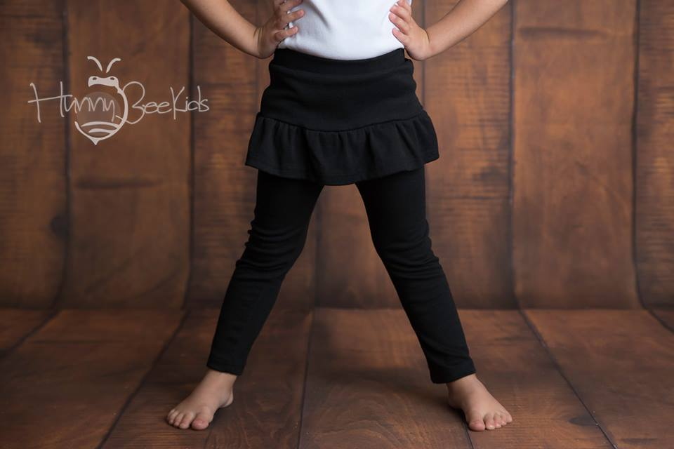 SKIRT LEGGINGS - BLACK