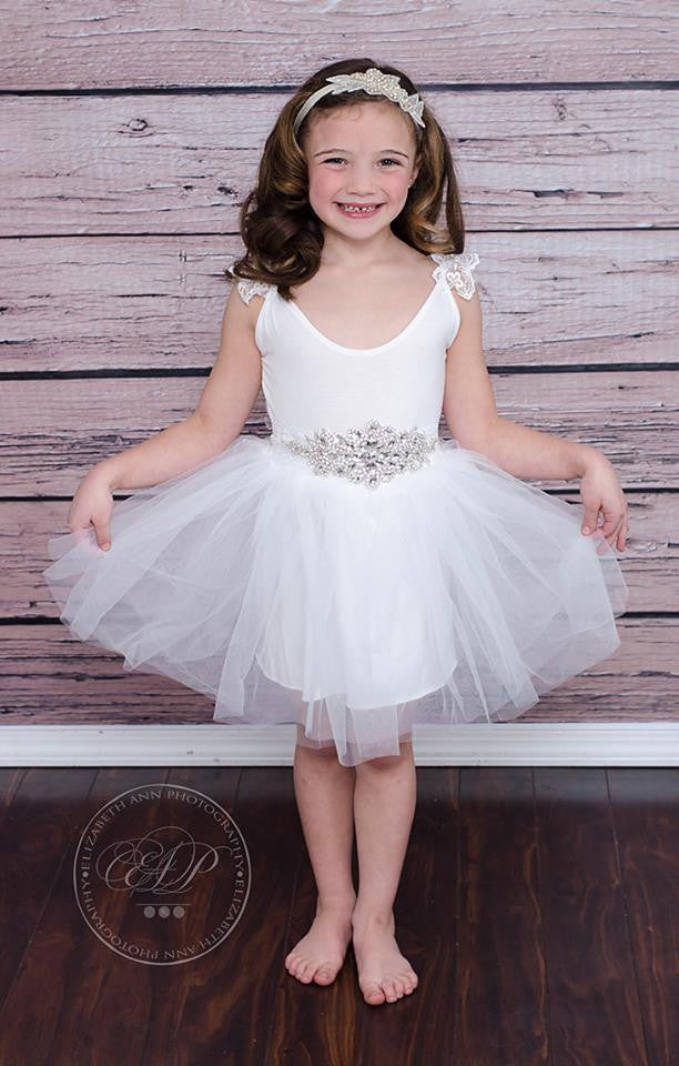 PRINCESS DIAMOND TUTU DRESS - WHITE