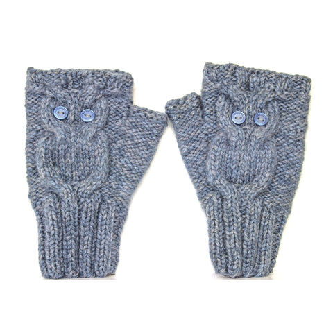 Owl Gloves Blue