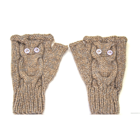 Owl Gloves Brown