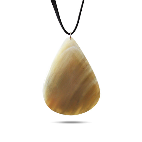 Bull Horn Eco Necklace - Light Drop