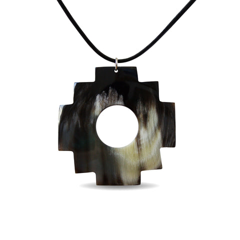 Bull Horn Eco Necklace- Dark Chakana