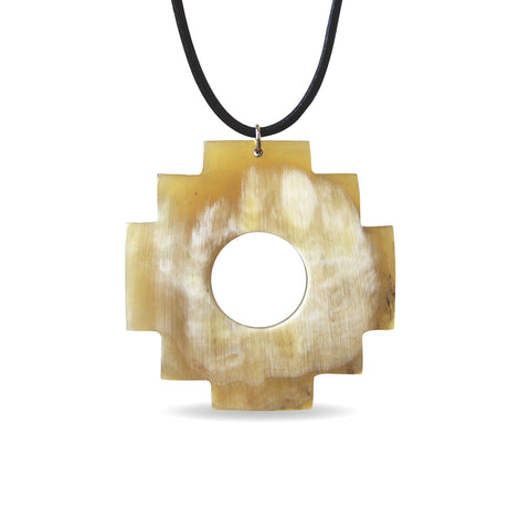 Bull Horn Eco Necklace - Light Chakana