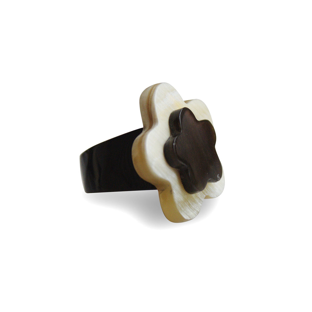 Bull Horn Eco Ring Mixed Flower