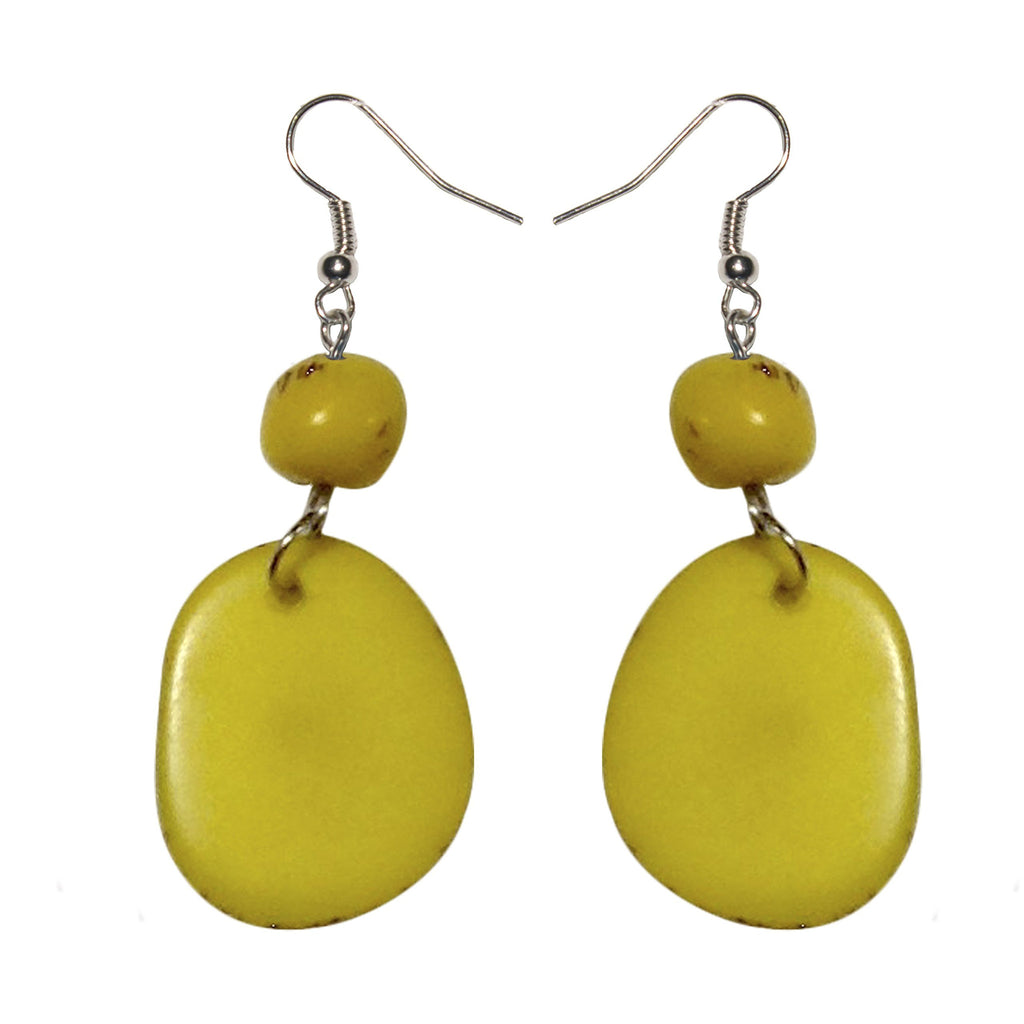 Yellow Stone Tagua Earring