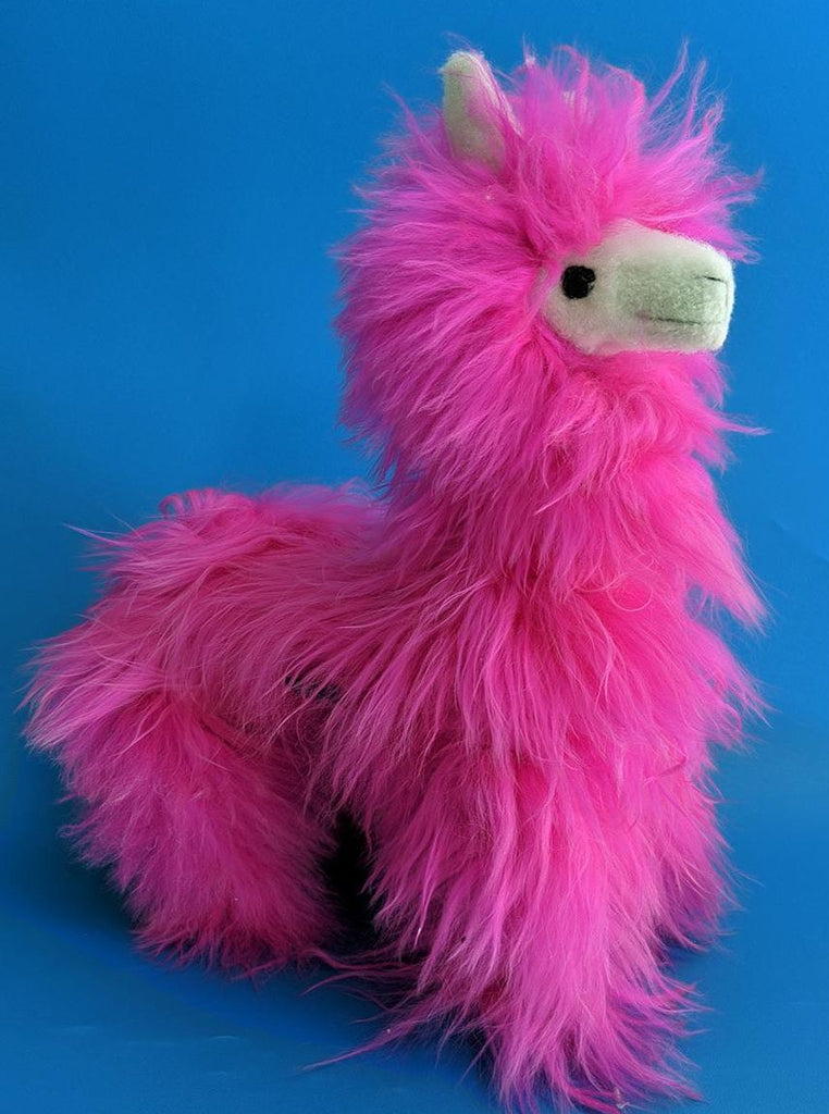 Jumbo Alpaca Hot Pink Stuffed Animal
