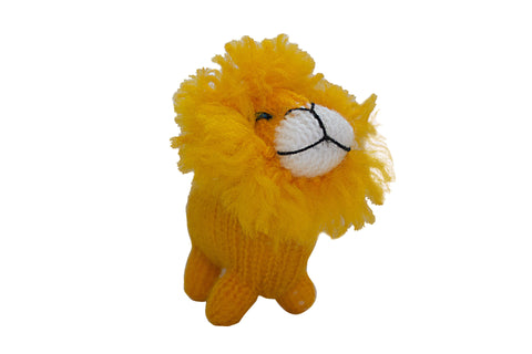 Hand Knitted Lion Ornament
