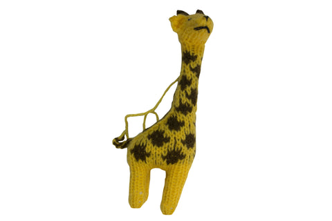 Hand Knitted Giraffe Ornament