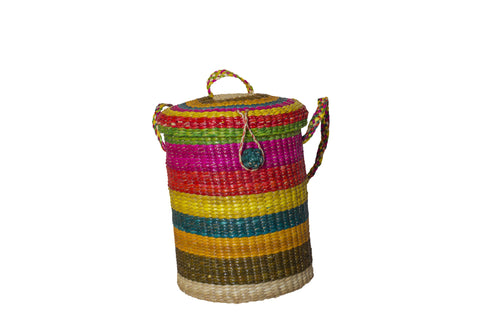Straw  Rainbow Bag