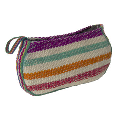 Hand woven Pouch Bag White