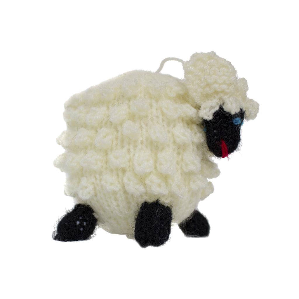 Handmade Christmas Ornament White Sheep