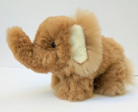 Alpaca Stuffed Elephant Brown
