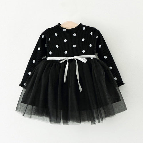 Polka Dot Black and White Princess Dress