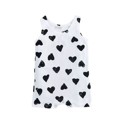 Sleeveless Black Heart Romper
