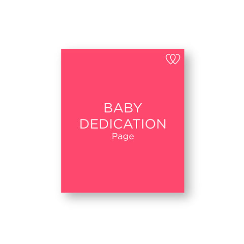 Baby Dedication Page