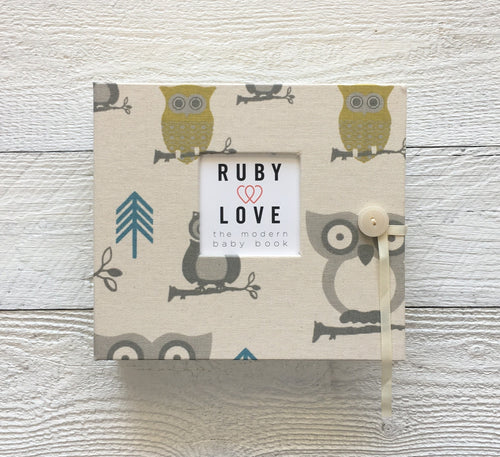 Blue and Green Owls | Baby Book