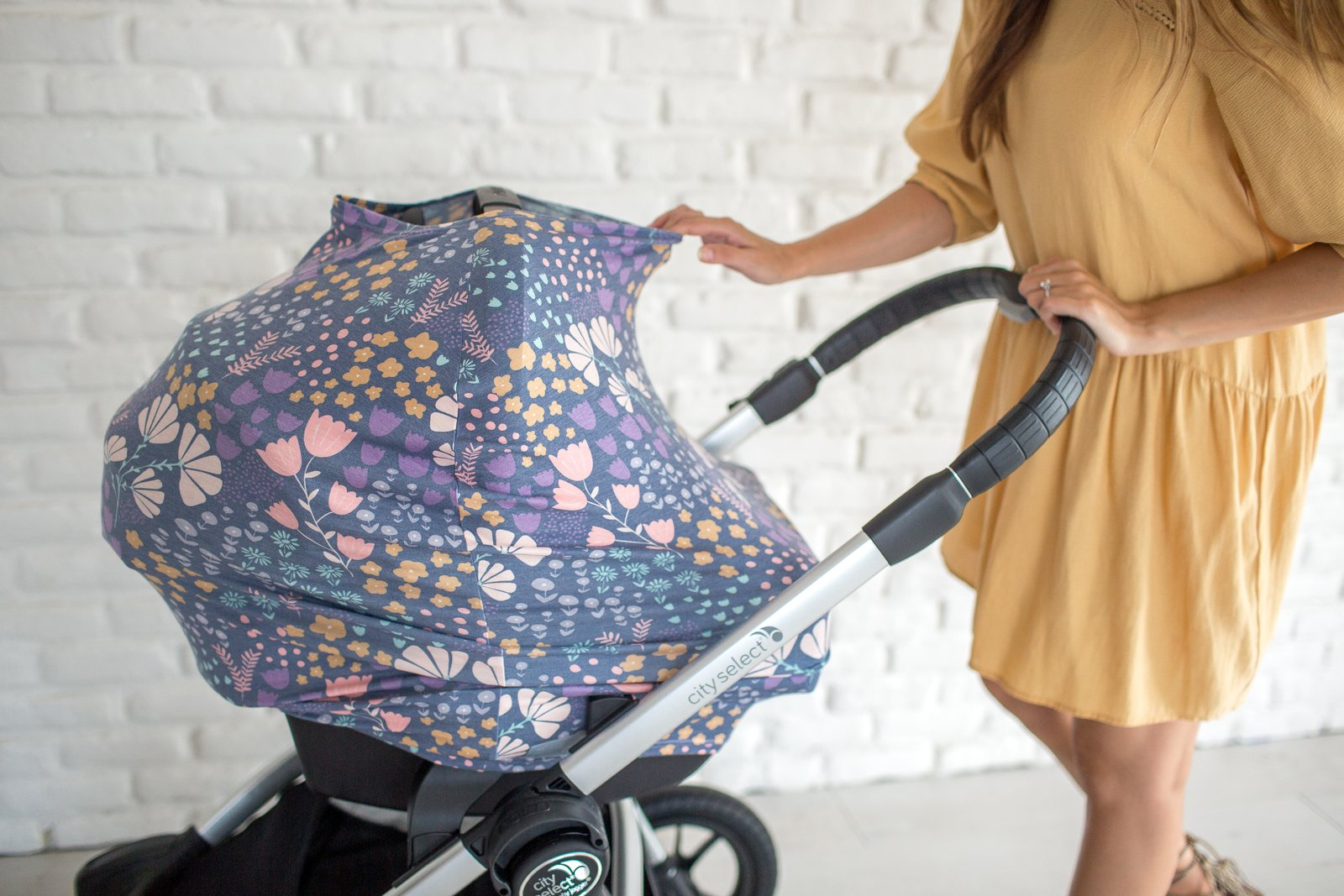 Copper Pearl- Multi-Use Nursing Cover/Carseat Cover - Meadow