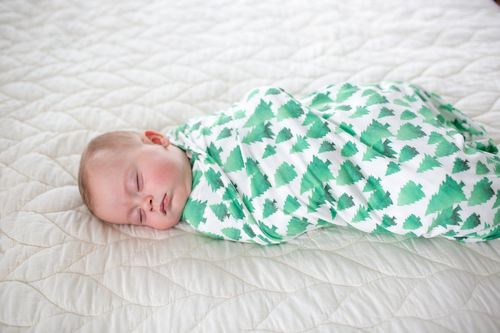 Copper Pearl- Super Soft Knit Swaddle Blanket - Forest
