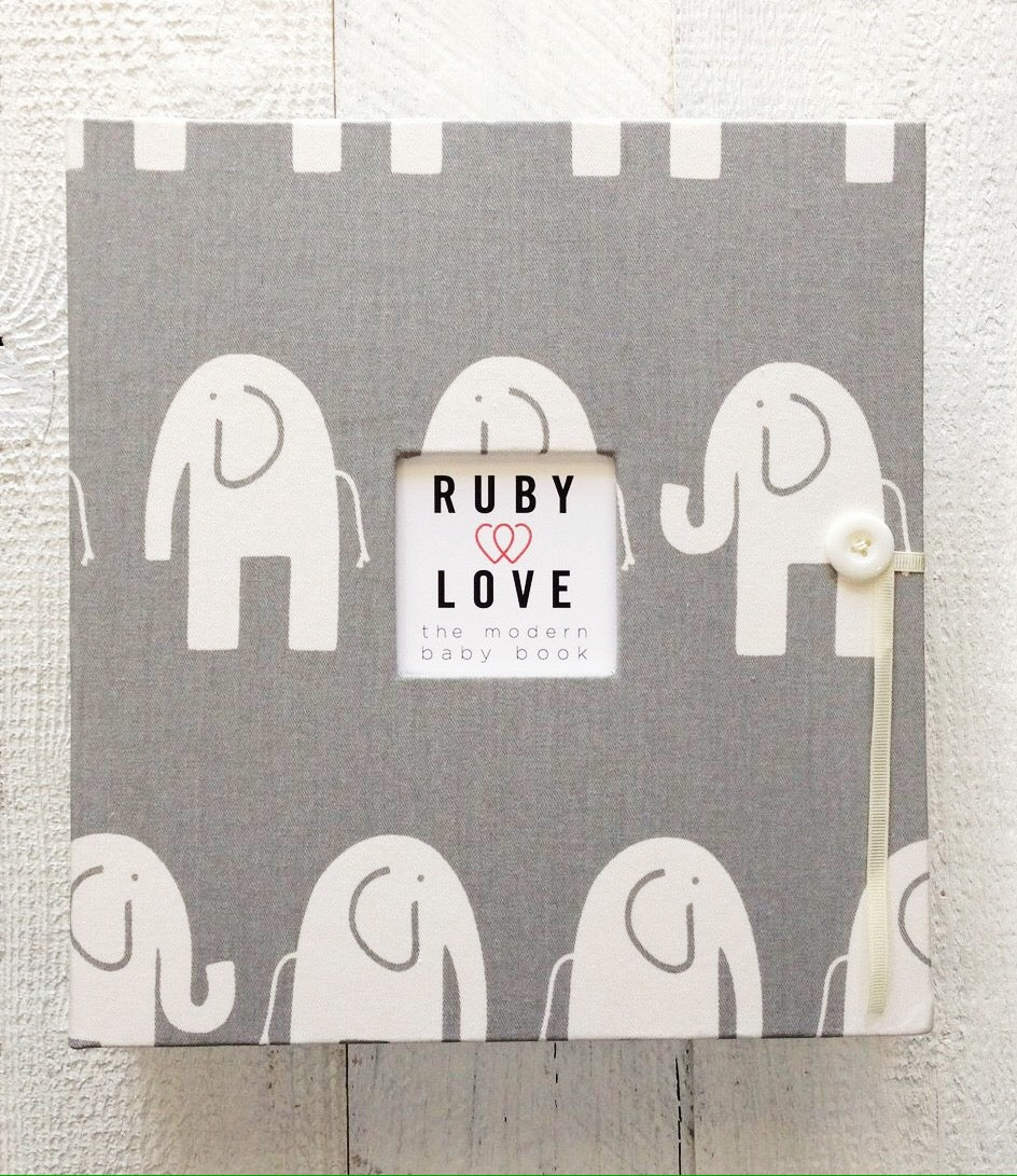 MOD Gray Elephants | School Years Memory Book