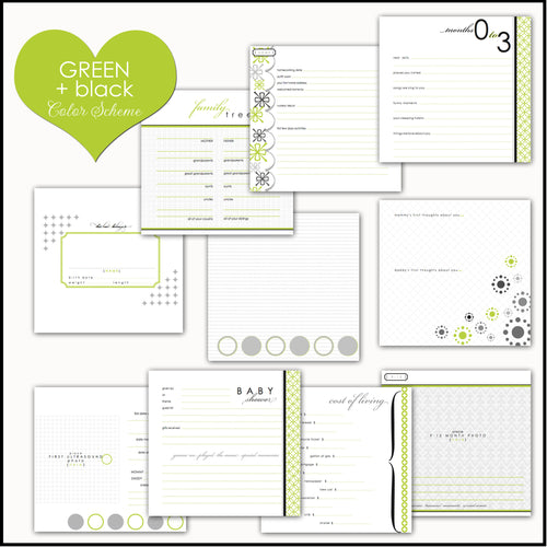 Lime MOD Circles | Baby Book