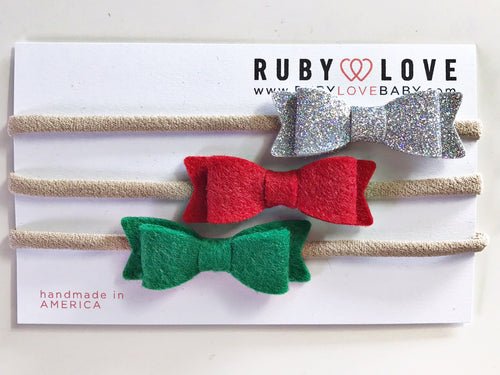Headband Bows - Christmas