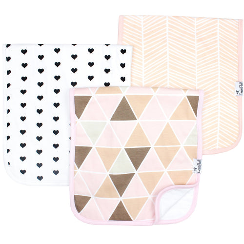 Copper Pearl 3 Burp Cloth Set - Blush