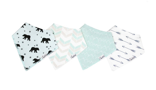 Copper Pearl- Bandana 4 pack Bib Set- Archer
