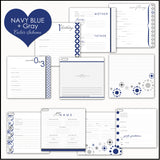 White Anchors Baby Memory Book