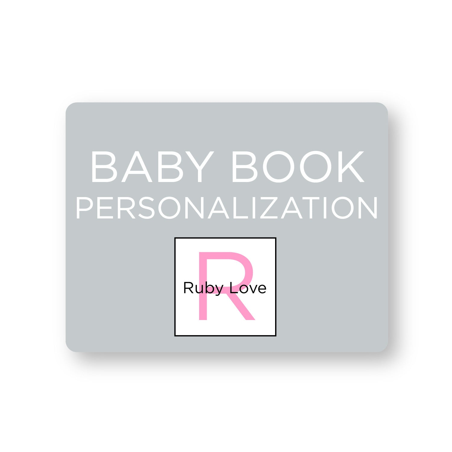 Personalize Your Baby Book!