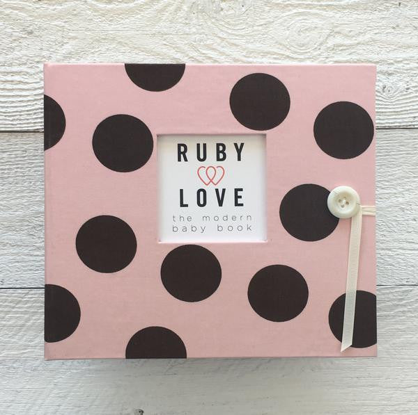 Large Polka Dot | Baby Book