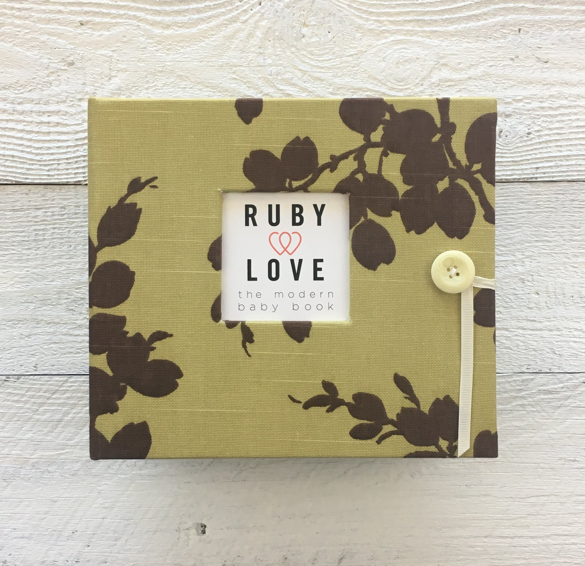 Sage Linen Branches | Baby Book