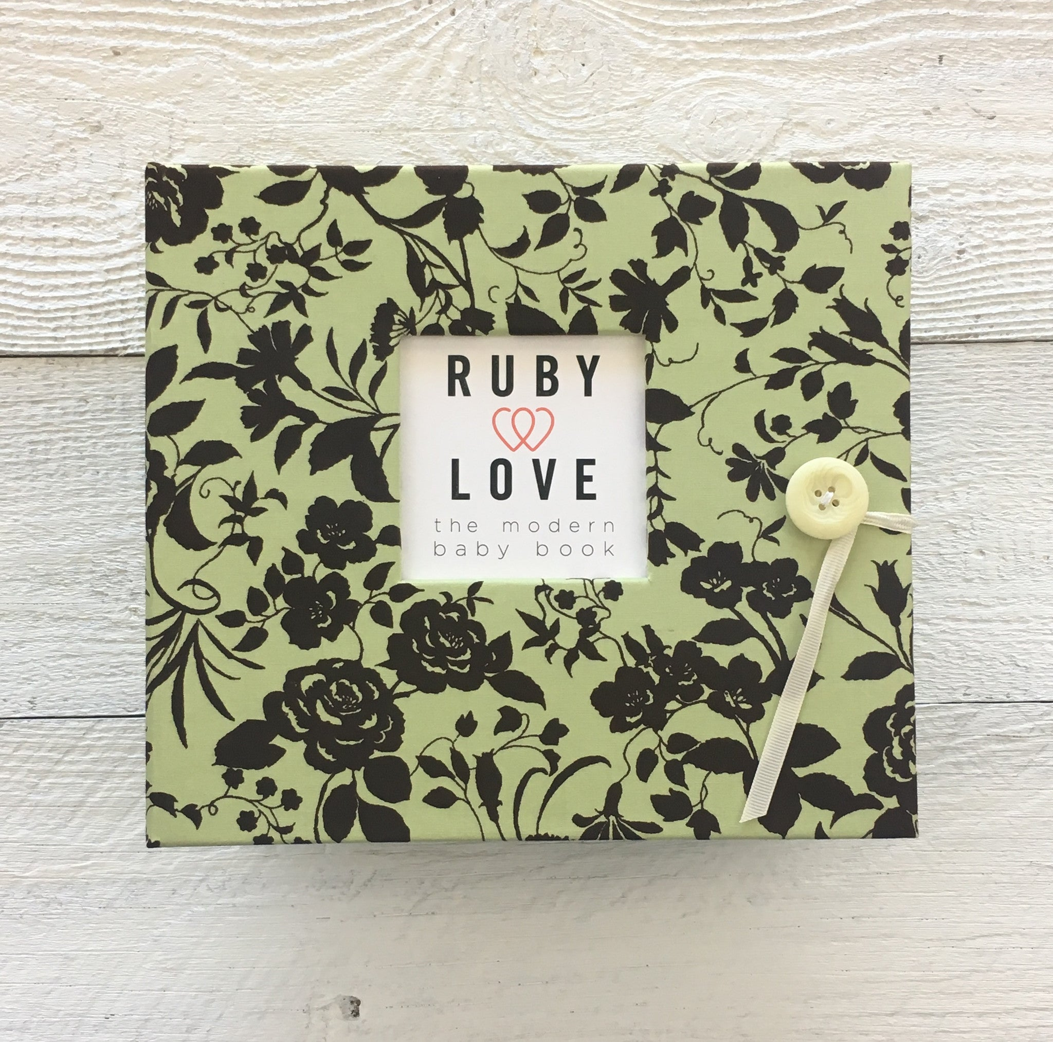 Vintage Mint Rose | Baby Book