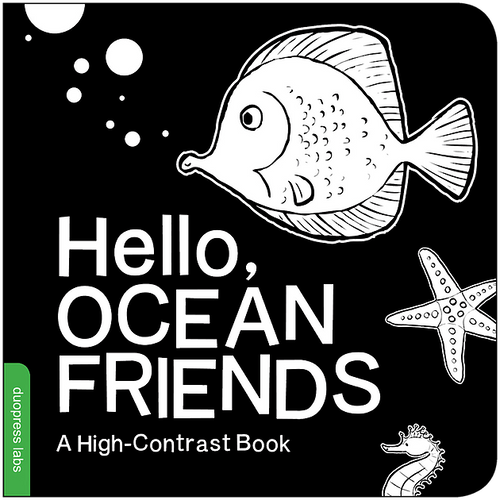 """Hello Ocean Friends"" Board Book by DuoPress Labs"