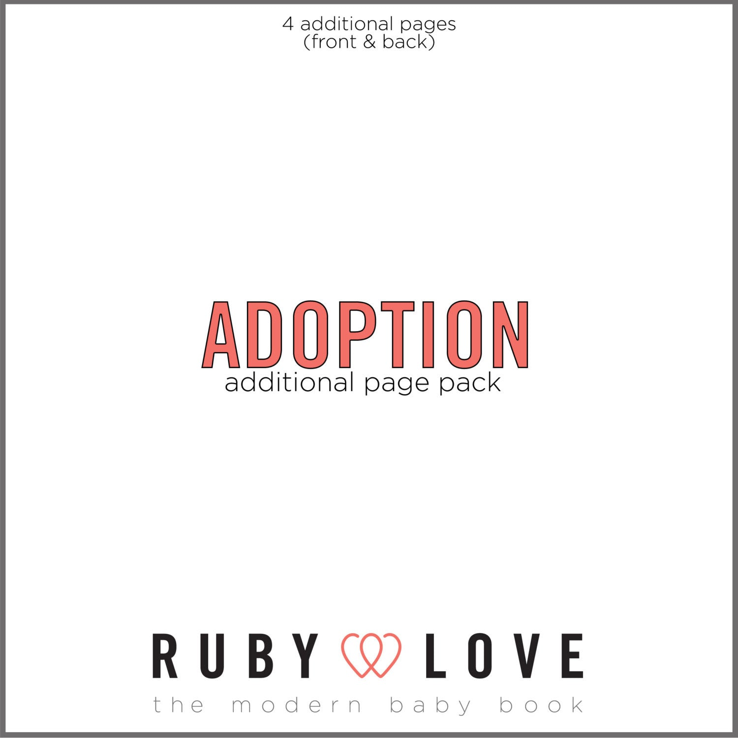 Adoption Additional Page Pack for Baby Memory Book
