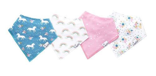 Copper Pearl Bandana 4 pack Bib Set - Whimsy