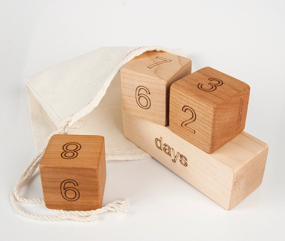 Milestone Block Set from Manzanita Kids