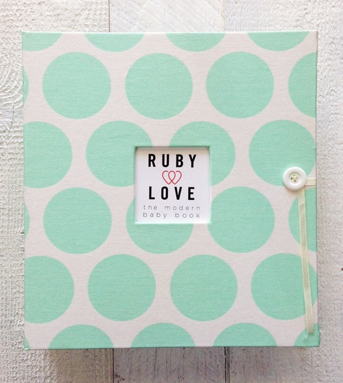 Mint Bold Dot | School Years Memory Book
