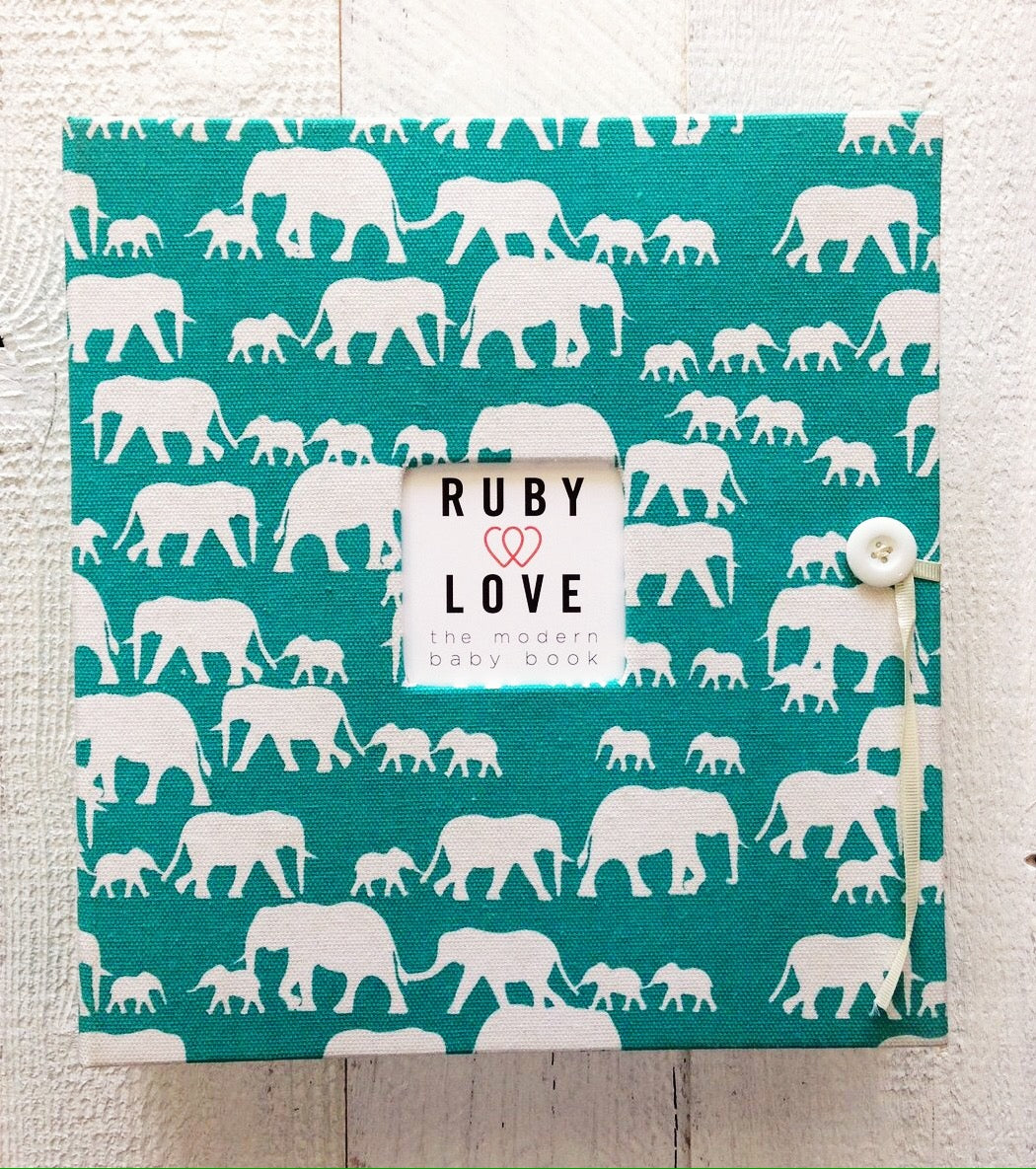 Elephant Silhouette | School Years Memory Book