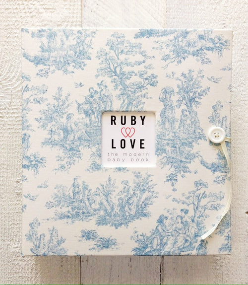 Blue Jamestown Toile | School Years Memory Book