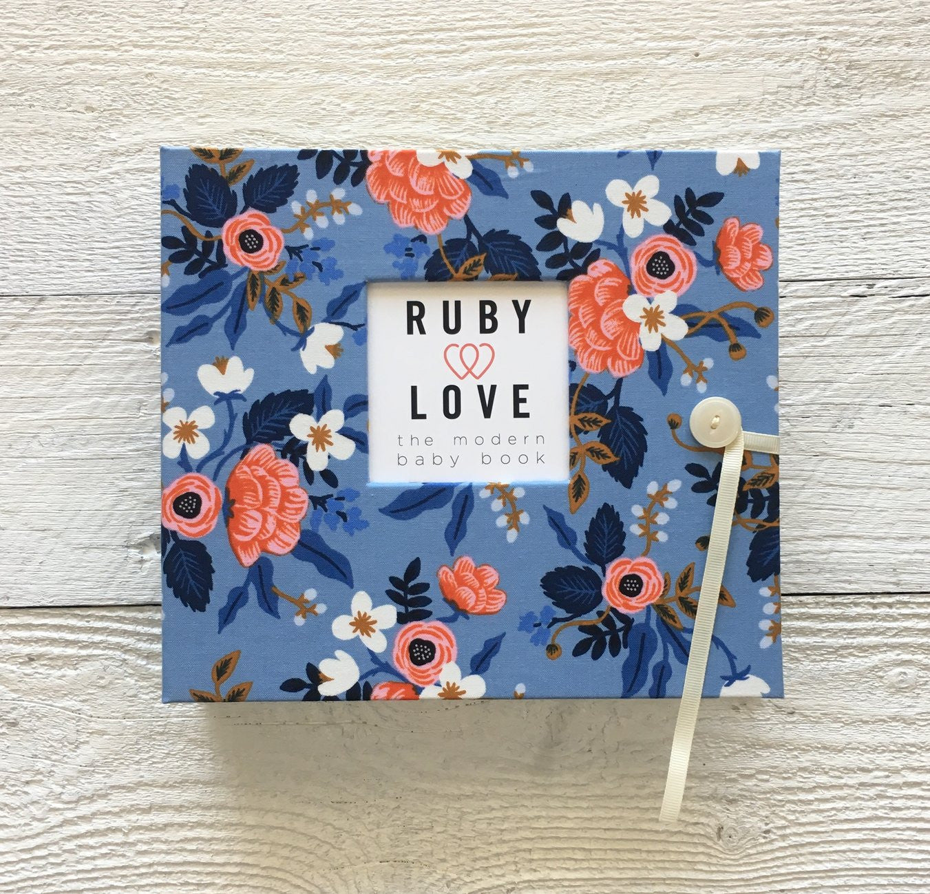 Rifle Paper Co. Birch Floral Periwinkle | Baby Book
