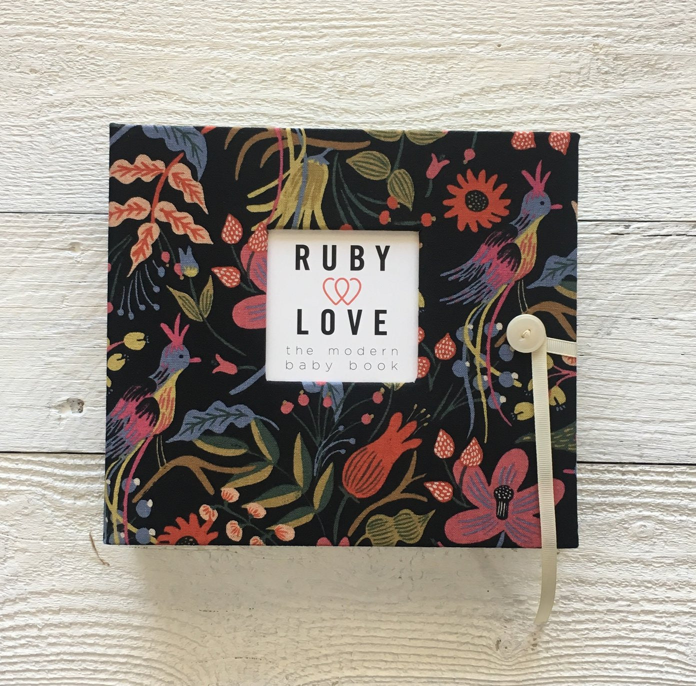 Rifle Paper Co. Black Folk Birds | Baby Book