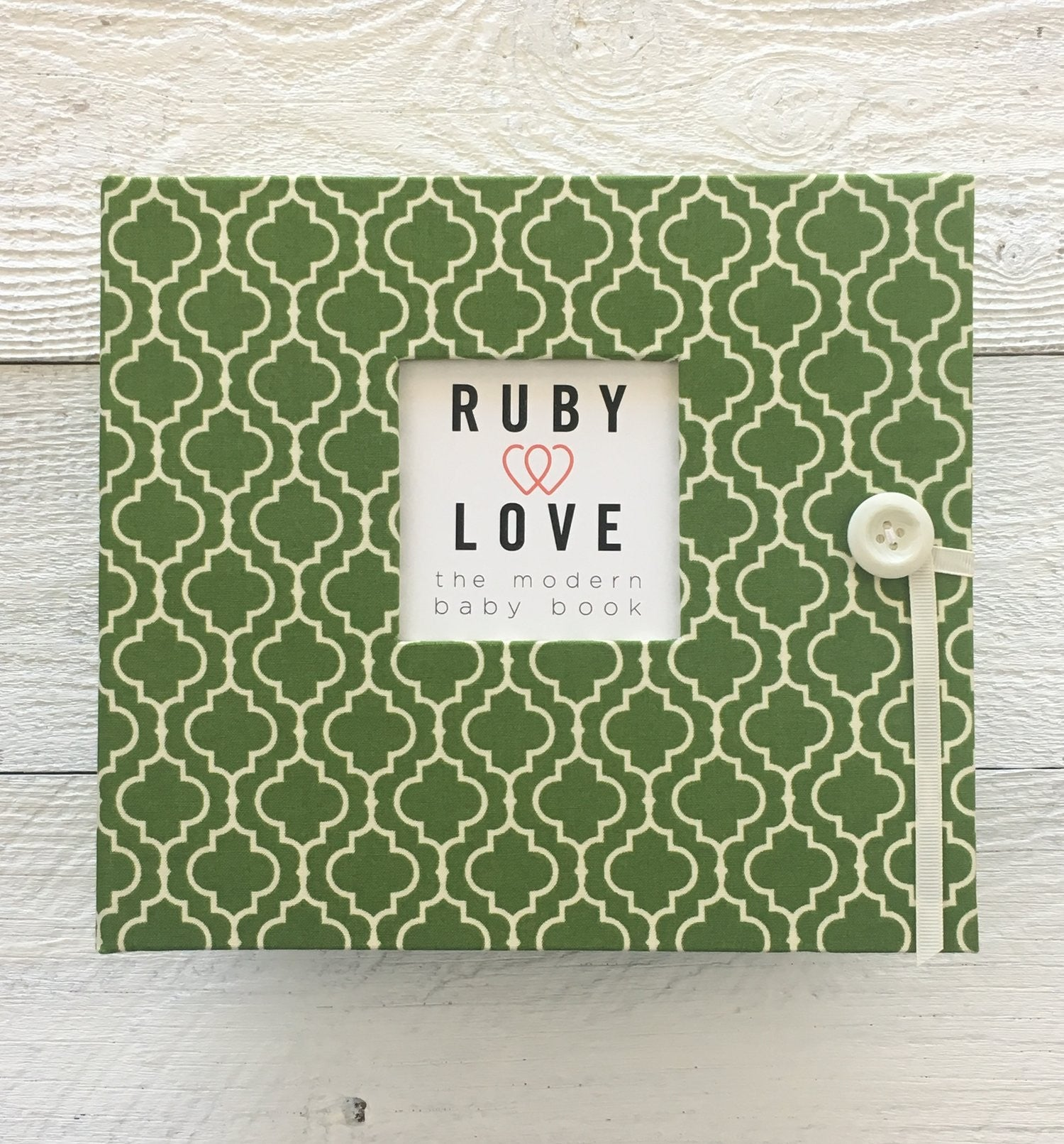 Green Moroccan Tiles | Baby Book