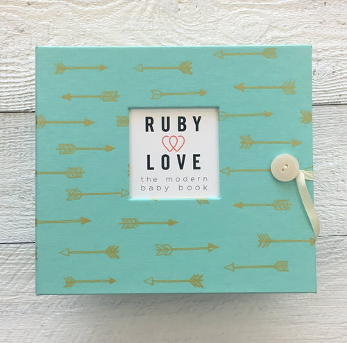 Mint & Gold Arrows | Baby Book