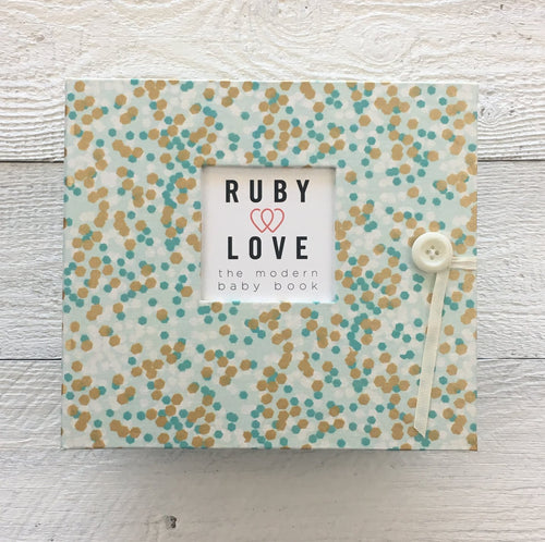 Mint & Gold Shimmer | Baby Book