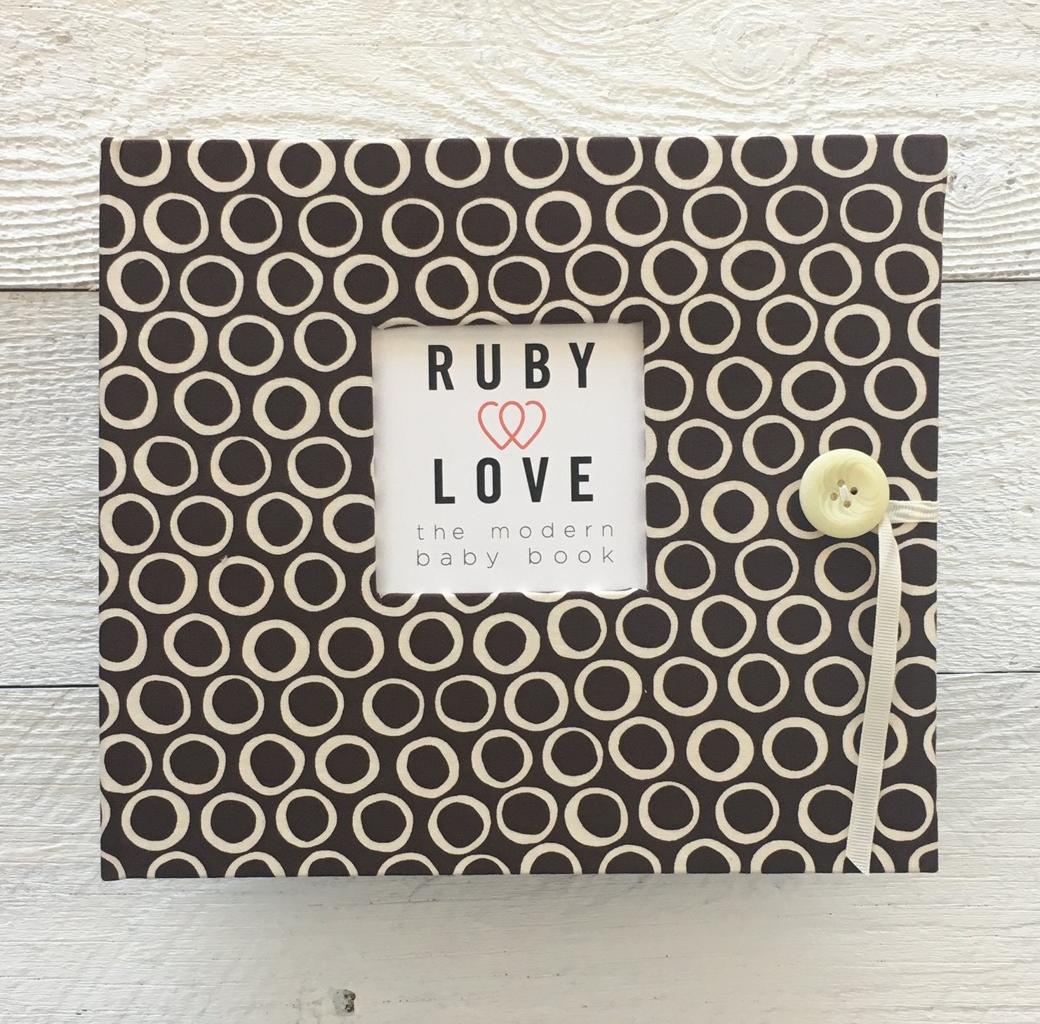 MOD Cool Chocolate Brown Dot | Baby Book