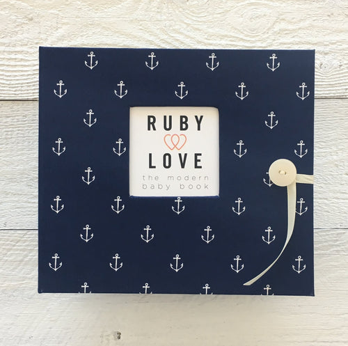 Navy Anchors | Baby Book