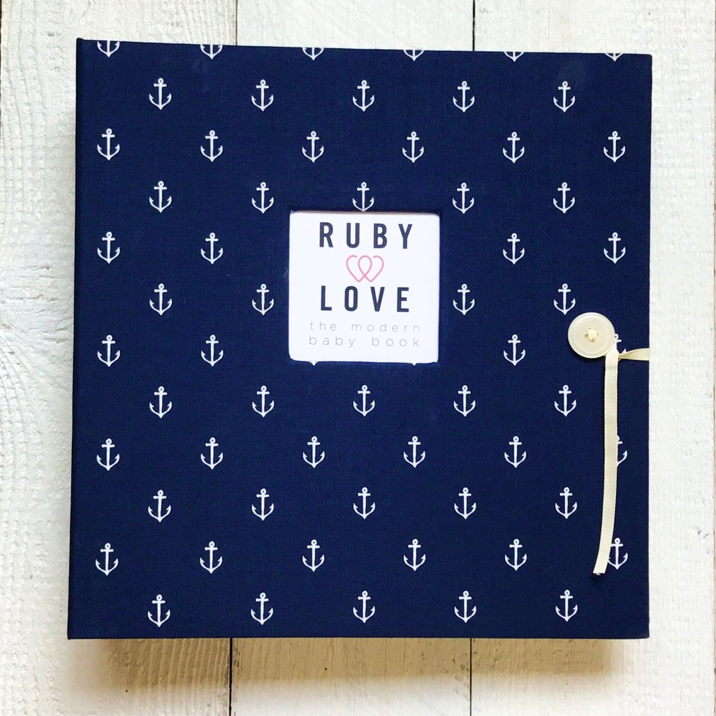 Navy Anchors | School Years Memory Book